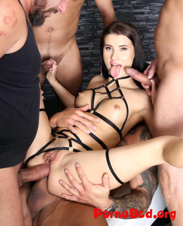 Nicole Black - Caged With Nicole Black, 4 On 1 Balls Deep Anal, DAP, Gapes And Facial GIO1329 (2020 | HD)